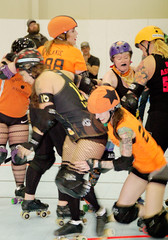 202 (Bawdy Czech) Tags: lcrd lava city roller dolls spit fires basin bombers bend or oregon april 2018 skate derby wftda flat track bout
