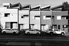Shades Of Grey (OzGFK) Tags: australia melbourne cliftonhill cars whitecars shadesofgrey shadesofgray houses urban streetphotography blackandwhite monochrome bw s100 canons100 tramtracks