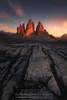Walls of Fire (Guillermo García Delgado) Tags: dolomites italy dolomiti alps mountain sunset worldphotoxperience wpx lavaredo tre cime di rocks travel alpenglow landscape
