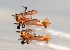 AeroSuperBatics - Stearman (Wingwalkers) (Tony CC Gray) Tags: aerosuperbatics stearman wingwalkers tonygray canon farnboroughinternationalairshow 2018 airshow planes aviation flight