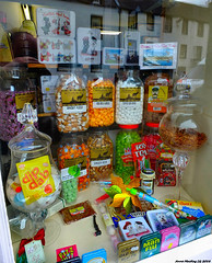 Scotland West Highlands Argyll a sweet shop window Inveraray 7 July 2018 by Anne MacKay (Anne MacKay images of interest & wonder) Tags: scotland west highlands argyll sweet shop window inveraray xs1 7 july 2018 picture by anne mackay