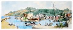 Centuri - Corse - France (guymoll) Tags: corse centuri france croquis sketch aquarelle watercolour watercolor aguarela port île harbour bateaux ships boats