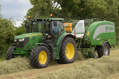 John Deere 6150R Tractor with a McHale Fusion 3 Plus Baler Wrapper Combi (Shane Casey CK25) Tags: john deere 6150r tractor mchale fusion 3 plus baler wrapper combi hay silage jd green castlelyons haylage traktor traktori tracteur trekker trator ciągnik silage18 silage2018 grass grass18 grass2018 winter feed fodder county cork ireland irish farm farmer farming agri agriculture contractor field ground soil earth cows cattle work working horse power horsepower hp pull pulling cut cutting crop lifting machine machinery nikon d7200