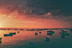 Sunset... (hobbit68) Tags: sunset sonnenuntergang sonne sonnenschein fujifilm xt2 sommer wolken clouds himmel sky boats barca boote wasser water meer ozean hafen port puerto holiday summer urlaub