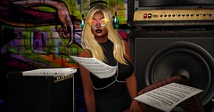 Best Song Ever (♥~ Mahogany ~♥) Tags: secondlife wetcat maitreya dela milosbazar likeme katydress headphones sunglasses clubedition destiny emotions maxigossamer sheetmusic speakers graffiti boots bass amp