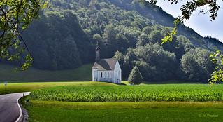 Holy Cross church; German/Austrian border