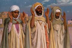Prayer at Dawn by Etienne Dinet (skaradogan) Tags: orientalism orientalisme painting algeria algerie north africa maghreb peinture
