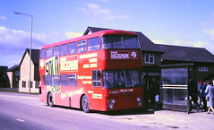 Slide 119-63 (Steve Guess) Tags: gloucester england gb uk bus circleline daimler fleetline willowbrook nfa13m hickman advert east staffs staffordshire burton