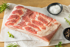Raw Organic Pork Belly Meat (brent.hofacker) Tags: background bacon baked barbecue bbq belly brown chop cook cooking cuisine cut delicious dinner dish fat fattening food fresh gourmet grill grilled ingredient lunch meal meat pig pork porkbelly protein raw rawporkbelly red restaurant roast roasted roastedporkbelly skin slices tasty unhealthy