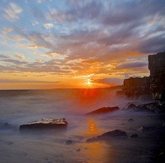 Red red wine (pauldunn52) Tags: ogmore by sea sunset glamorgan heritage coast wales sky red rocks cliffs