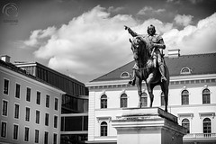 Typically MUNICH: Wittelsbacherplatz (mkarwowski) Tags: canon eos 80d canoneos80d wittelsbacherplatz bayern bavaria munich deutschland germany monument street monochrome blackandwhite industar502 m42