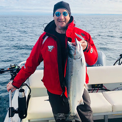 Nice size Coho salmon at Langara Island Lodge (Langara Fishing Adventures) Tags: alaska bc britishcolumbia canada dixonentrance grahamisland haidagwaii langaraisland pacificnorthwest queencharlotteislands fishinglodges ca