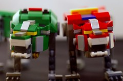 Green and Red Lion from 21311 Lego Voltron set (Niki Gunn) Tags: pentax k5 2018 tamron 90mm macro tamron90mmmacro tamronspaf90mmf28 tamron90mm tamron90mmf28 july lego voltron lionforce 21311 legovoltron redlion greenlion