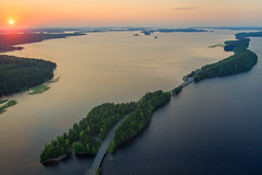 Esker goodness (Teemu Kustila Photography) Tags: päijänne pulkkilanharju drone dronephotography sunset sunrise road roadtrip