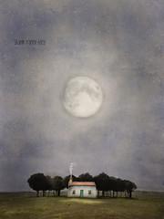 Humble Abode (sharon o*brien huey) Tags: moon abode house moonlight magicalrealism sharonobrienhuey fairytale