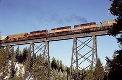 MILW   W. of Penfield, MT (larryzeutschel) Tags: milw milwaukee road railroad mountains montana