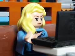 Surfing the web (eddiemck123) Tags: lego minifigure collectibleminifigureseries moc toy laptop computer internet surfing