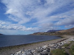 On the Horizon, Ullapool, West Coast of Scotland, April 2018 (allanmaciver) Tags: macbrayne ferry horizon ben mor coigach shore curve ullapool west coast scotland clouds distance water sky weather april allanmaciver caledonian