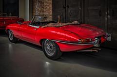 JAGUAR E-TYPE CONVERTIBLE - rear view (Peter's HDR-Studio) Tags: petershdrstudio hdr classiccar jaguar jaguaretype klassiker oldtimer convertible red rot cabriolet