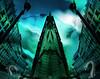 Invasiones (seguicollar) Tags: imagencreativa photomanipulación art arte artecreativo artedigital virginiaseguí mapa ruedas pájaros vuelo invasión serpientes submundo ciudad mirror espejo farolas panosabotaje panovisión