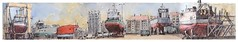 Les Sables d'Olonne / Vendée - France (guymoll) Tags: googleearthstreetview croquis sketch lessablesdolonne sablesdolonne vendée france aquarelle watercolour watercolor bateaux ships boats port panoramic panoramque