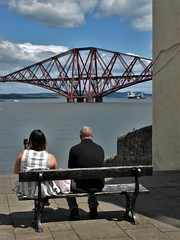 Sit down with a view (Fraser P) Tags: scotland southqueensferry bridges forthbridge estuary crossing cantilever historic worldheritage engineering iconic westlothian edinburgh