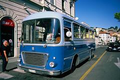 Arrivo alla stazione centrale (maximilian91) Tags: fiat314cansa fiat314 fiatcansa fiat oldbuses vintagebuses italianbuses italia italy liguria laspezia provia provia100 35mm film analogue nikonfe