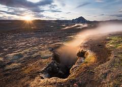 Namaskard geysers (Uldis K) Tags: namaskard geysers namafjall myvatn geysir iceland sunset volcanic