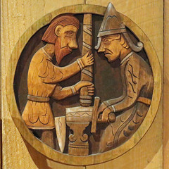 Viking Museum at Borg (Geoff Buck) Tags: norway lofoten island viking museum borg longhouse