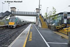 22011+22046 pass Broombridge, 28/7/18 (hurricanemk1c) Tags: railways railway train trains irish rail irishrail iarnród éireann iarnródéireann 2018 22000 rotem icr rok 4pce 22011 broombridge
