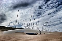 Catamaran (BramvTol) Tags: catamaran netherlands holland wassenaar sky zand boot sand wolken clouds boat sailing yacht strand beach canon snapseed