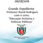 Grande Expediente -  Prof. Dr. David Rodrigues com o tema: