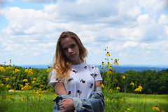 brigham 3 (sadielookabaugh) Tags: nature plants photoshop photography sister wisconsin park green flowers road hat daisies field