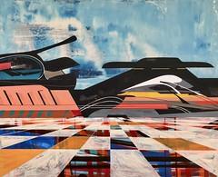 Jim Harris: Forward Launching Station at Sevettijärvi. (Jim Harris: Artist.) Tags: art modern maalaus malerei málverk målning konst kunst painting arte lartabstrait futuristic futurism space cosmos peinture paint geometric