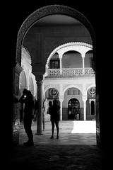 They used to be Tourists (parenthesedemparenthese@yahoo.com) Tags: dem 2018 andalousie andalusia bn espagne espana femme mai man monochrome nb noiretblanc photographer silhouettes spain street textures window woman blackandwhite bnw byn canon600d columns ef24mmf28 grandcontraste highcontrast homme may printemps realalcazar sevilla seville spring streetphotography touristes tourists wall