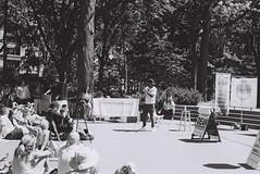 Washington Square Park 7-8-18 (ganzology) Tags: kodak medalist ii washington square park trix 400 ektar 100mm f35 sunny day flute birds pigeons arch greenwich village fountain medium format bw black white