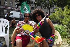 Watching the parade in style (ulo2007) Tags: csd csdparadebarlin pride berlin gay lesbian