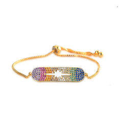 Gold Plated Zircon Cuff Bracelet Adjustable Colorful Charm Chain (1155919) #Banggood (SuperDeals.BG) Tags: superdeals banggood jewelry watch gold plated zircon cuff bracelet adjustable colorful charm chain 1155919