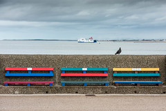 benches, boat and bird (Mike Ashton) Tags: mersey sps wirral seaside coast newbrighton