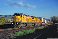 Dash 8-40Cs on a Z (jamesbelmont) Tags: railway ge c408 ups unionpacific riverton utah zdvro drgw riogrande draper