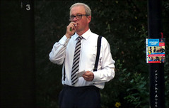 `2349`..Harry Enfield (roll the dice) Tags: london swisscottage nw3 hampsteadtheatre fag smoking cigarette actor comerdian legend sad miserable leftie labour reaction old classic art urban unaware unknown braces people out fashion stage screen portrait candid stranger bald whitehouse canon tourism glasses tourists paparazzi celebrities zoom crop press media genesisinc dusk ivf jemmakennedy fun funny chums tv writer bbc norbertsmith characters smashieandnicey humour tie fencing play mad angry hot sunny weather onlyme light smoker