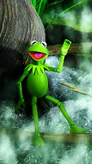 Kermit the Frog (custombase) Tags: diamondselect muppets figure kermit frog swamp muppet toyphotography