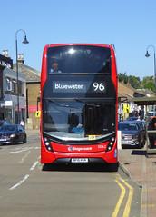 SLN 13062 - BF15KGN - CRAYFORD HIGH STREET - SUN 5TH AUGUST 2018 (Bexleybus) Tags: crayford high street bridge kent adl dennis enviro 400 mmc volvo hybrid stagecoach london tfl route 96 selkent 13062 bf15kgn
