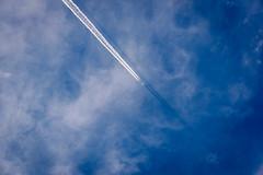 飛行機雲の影ー Shadow of the contrail (kurumaebi) Tags: yamaguchi 山口市 秋穂 nikon d750 nature landscape cloud 雲 contrail 飛行機雲 shadow 影 彩雲