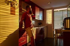 Buenos días (- Cajón de sastre -) Tags: selfportrait autoretrato bearded man iphone6 kitchen light lines