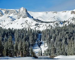 Crystal Crag and Double Falls, Twin Lakes, CA 2017 (inkknife_2000 (9.5 million views)) Tags: mammothca springsnowstorm treeswithsnow sierranevadarange freshsnowonground waterreflection usa landscape snow dgraham photo california newsnow morningsnow twinlakes crystalcrag forest iceonlake trees pines firs waterreflections skyandclouds lakes footbridge ice