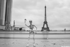 The Eiffel tower is a place to see if you come to Paris! . . . #poseskeleton #skeleton #rement #toy #miniature #toyphotography #paris #eiffeltower #toureiffel #france #city #architecture (EatMyBones) Tags: stuckinplastic figurine miniature paris poseskeleton rement skeleton toy toyphotography toysafari