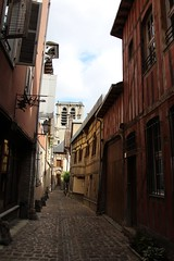 Ruelle des Chats, Troyes (demeeschter) Tags: france champagne aube troyes city town building architecture church cathedral religion culture art street medieval museum archaeology heritage historical