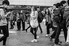 Urban Myth (burnt dirt) Tags: asian japan tokyo shibuya station streetphotography documentary candid portrait fujifilm xt1 bw blackandwhite laugh smile cute sexy latina young girl woman japanese korean thai dress skirt shorts jeans jacket leather pants boots heels stilettos bra stockings tights yogapants leggings couple lovers friends longhair shorthair ponytail cellphone glasses sunglasses blonde brunette redhead tattoo model train bus busstation metro city town downtown sidewalk pretty beautiful selfie fashion pregnant sweater people person costume cosplay boobs