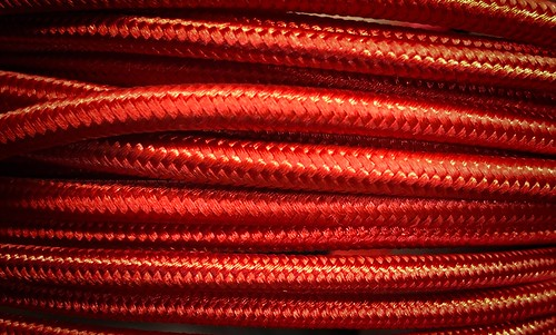 Red braided cords - #jcutrer